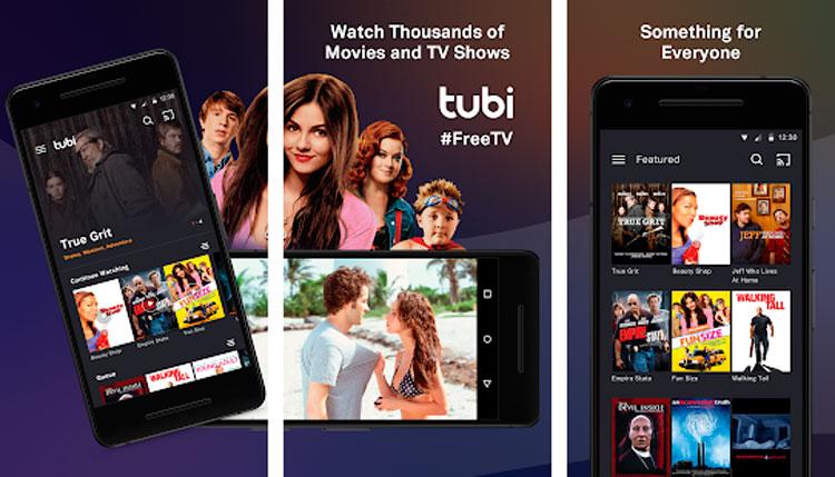 Interfaz gráfica de la app TV Tubi