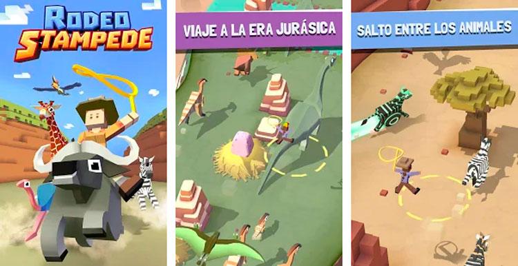 Interfaz gráfica del juego Rodeo Stampede
