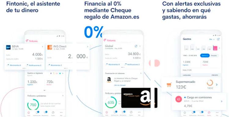 Interfaz gráfica de la app Fintonic