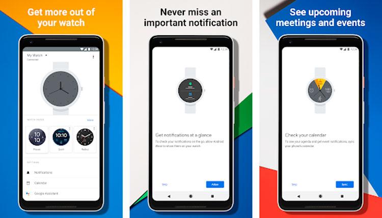 Interfaz gráfica de la app Smartwatch Wear OS