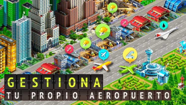 Interfaz gráfica del juego Airport City