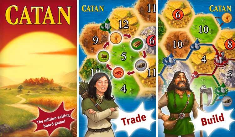 Interfaz gráfica del juego Catán