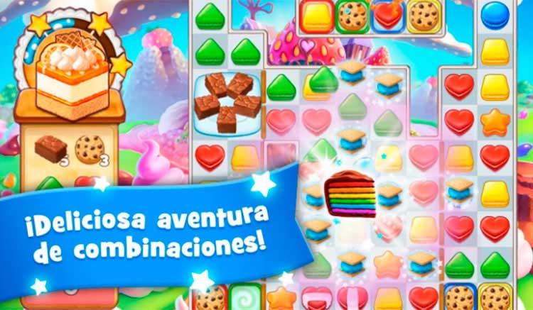 Interfaz gráfica del juego Cookie Jam