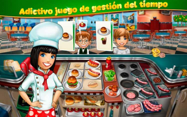 Interfaz gráfica del juego Cooking Fever