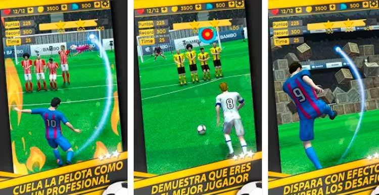 Interfaz gráfica del juego Disparo y Gol