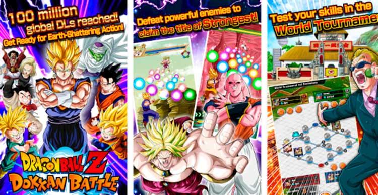 Interfaz gráfica del juego Dragon Ball Z Dokkan Battle