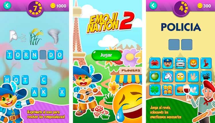 Interfaz gráfica del juego EmojiNation 2