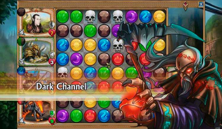 Interfaz gráfica del juego Gems of War