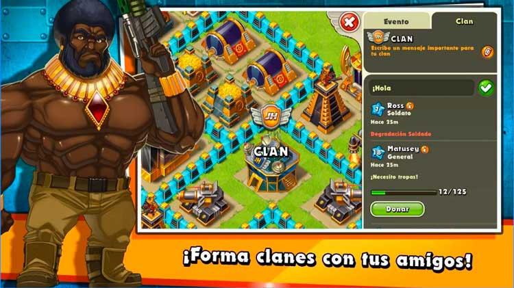 Interfaz gráfica del juego Jungle Heat: War of Clans