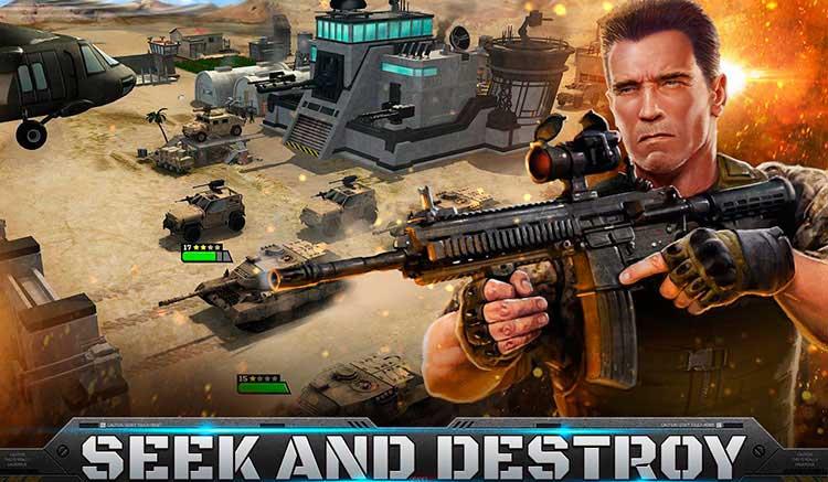 Interfaz gráfica del juego Mobile Strike