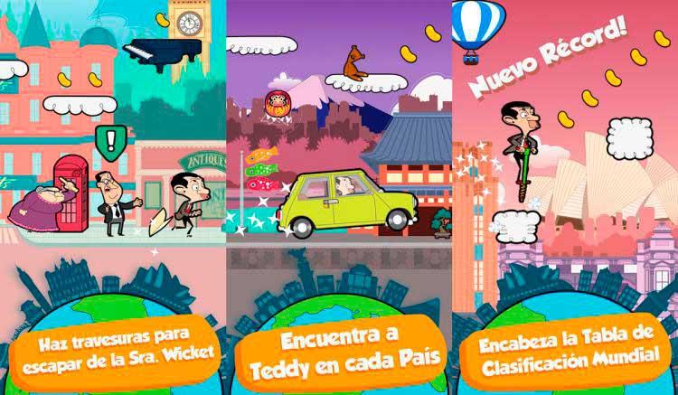 Interfaz gráfica del juego Mr Bean - Alrededor Del Mundo