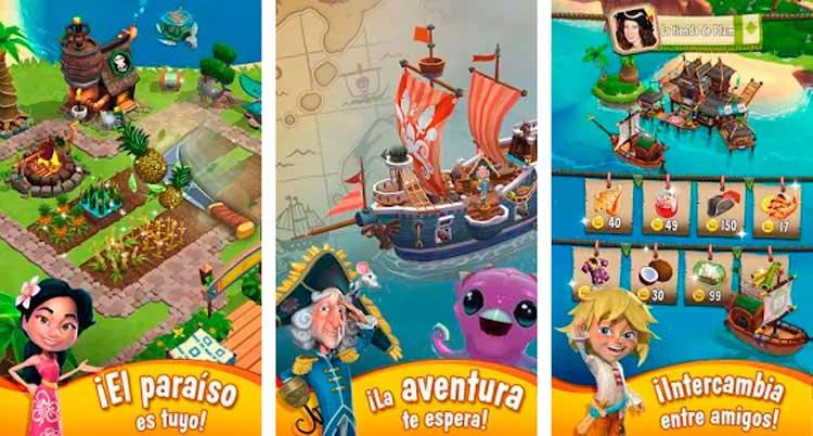 Imagen donde podemos ver cómo es la interfaz del juego Paradise Bay.