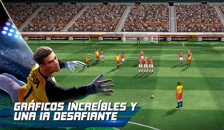Interfaz gráfica del juego Real Football
