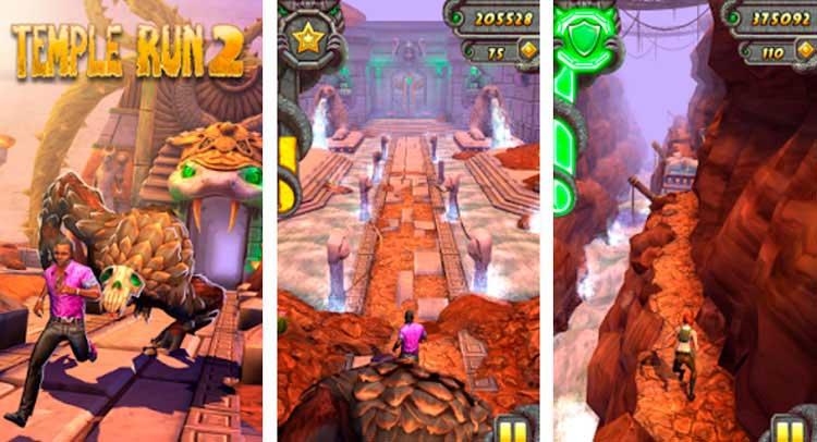 Interfaz gráfica del juego Temple Run 2