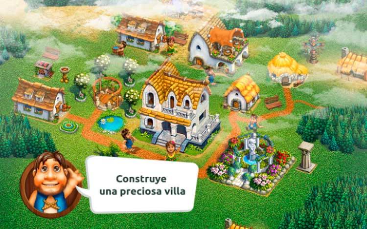 Imagen donde podemos ver cómo es la interfaz gráfica del juego The Tribez.