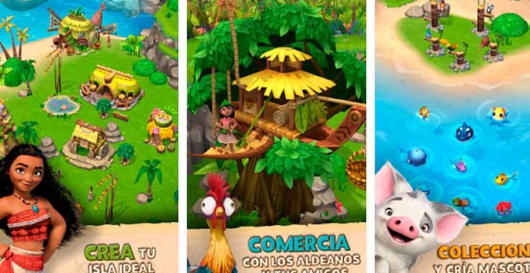Interfaz gráfica del juego Vaiana: Una Isla de Aventuras