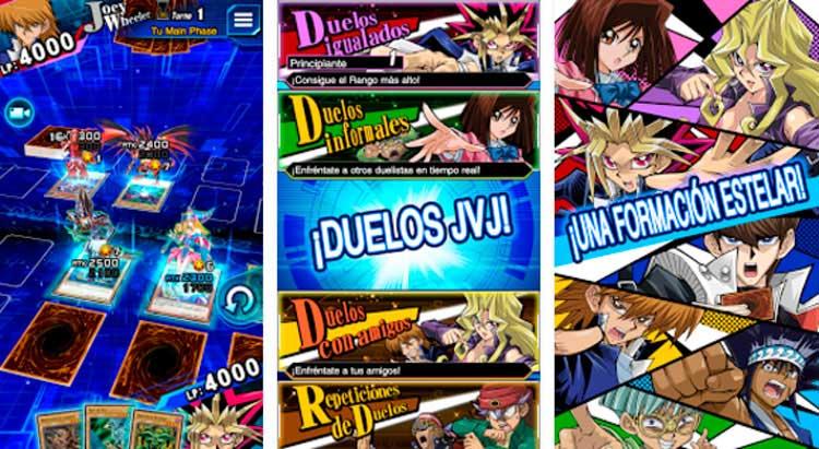 Interfaz gráfica del juego Yu-Gi-Oh!