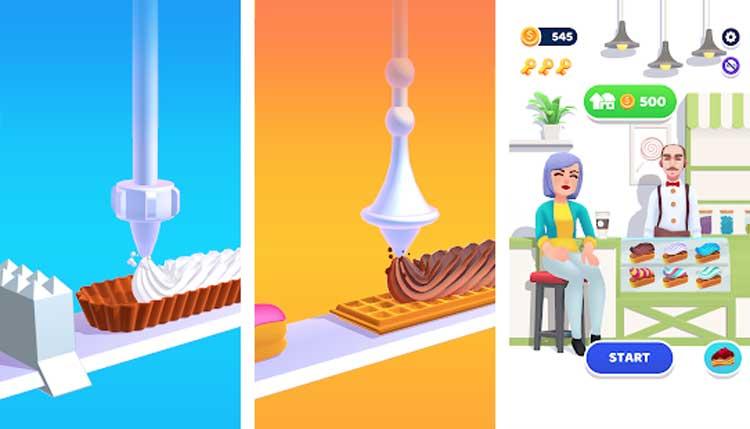 Interfaz gráfica del juego Perfect Cream