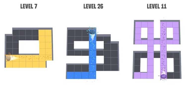 Interfaz gráfica del juego Amaze
