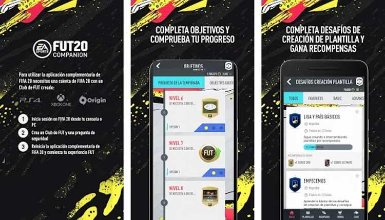 Interfaz gráfica del juego FIFA Companion
