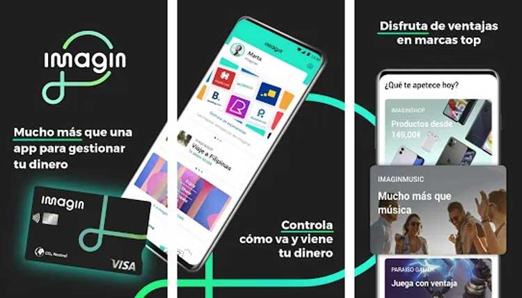 Interfaz gráfica de la app Imagin