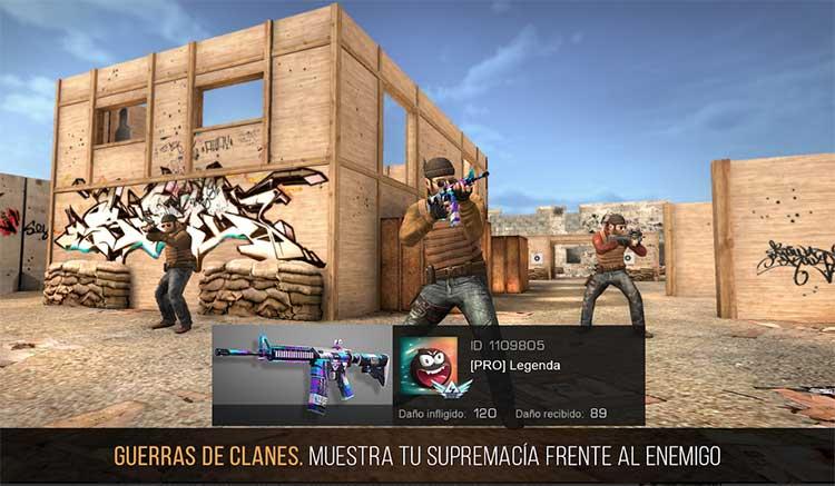 Interfaz gráfica del juego Standoff 2
