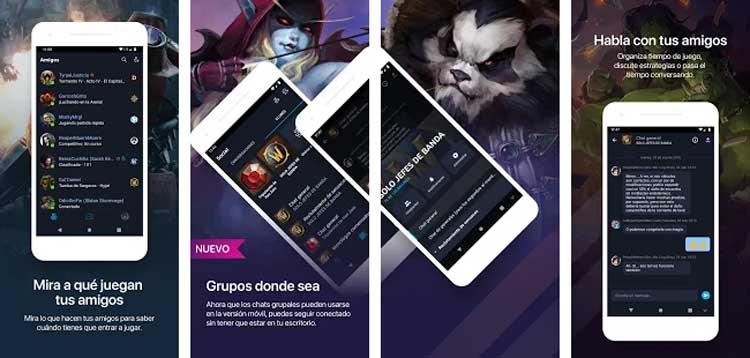 Interfaz gráfica de la app Blizzard Battle.net