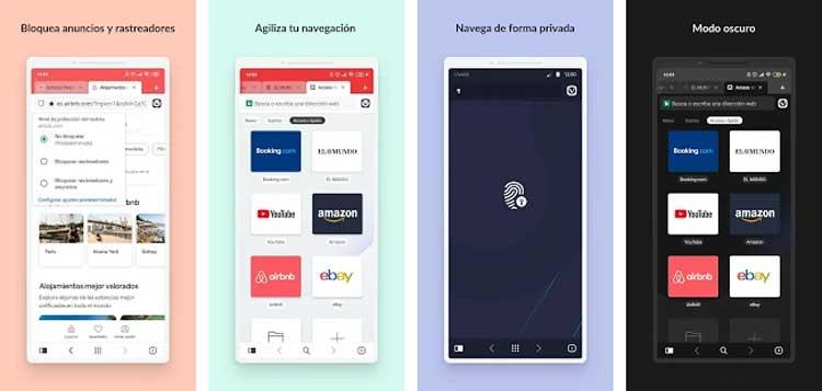 Interfaz gráfica de la app Vivaldi