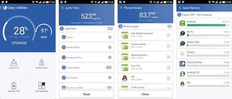 Interfaz gráfica de la app Glary Utilities