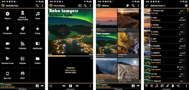 Interfaz gráfica de la app MediaMonkey