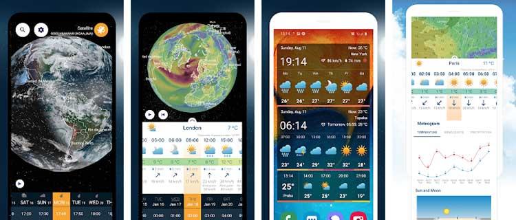 Interfaz gráfica de la app Ventusky