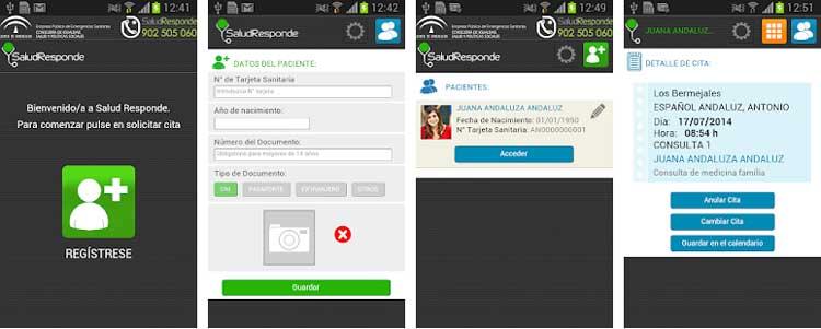 Interfaz gráfica de la app Salud Responde